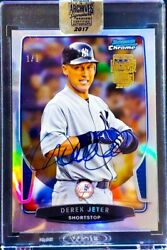 1/1 Derek Jeter Auto 2017 Topps Archives And03913 Bowman Refractor - Sealed Card