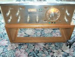 H. H. SCOTT 355 TUBE PREAMP AMFM WITH CUSTOM CABINET MY OH MY!