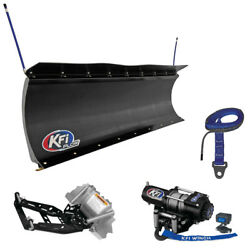 New Kfi 72 Pro-poly Snow Plow System - 2012-2014 Polaris Rzr 4 900 Utv