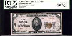 1929 20 First Nb Of Freehold, Nj Fr. 1802-2 Ty.2 Ch.452 58ppq Pcgs A000564