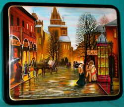 The Old Moscow Russian Hand Painted Fedoskino Lacquer Box