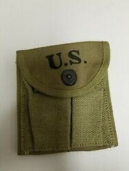 Original Us Gi Wwii M1 Carbine Khaki Stock Pouch Various Makers Dated 1943