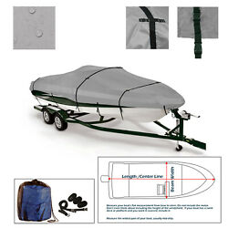 Deluxe 16and039-18.5and039 V-hull Runabout Pro Bass Trailerable Fishing Boat Storag Cover