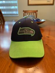 Seattle Seahawks Nfl Youth Navy Blue And Green Hat, One Size Fits All