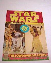 Star Wars Official Poster Monthly Magazine 6 C-3po  Vintage 70's    120