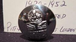 British Columbia Regiment Canada Wwii/pre-wwii Chrome Plated Pitt And Co Button