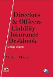 Directors And Officers Liability Insurance By Davisson Michael R.