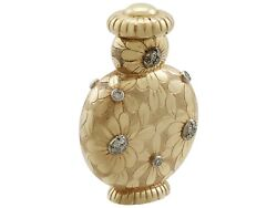 French 18k Yellow Gold and Diamond Scent Bottle by Van Cleefe & Arpels 1950s