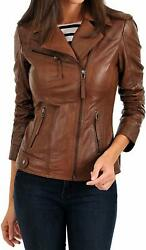 Urban Womenand039s Real Lambskin Leather Jacket Designer Soft High Quality Biker Coat