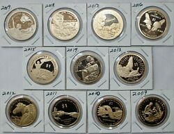 12 One Dollar Coin Lot 2009 Through 2020 S Proof Sacagawea Native American 1