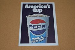 70s Vintage Print Ad Americaand039s Cup Soda Pop Soft Drink Pepsi Have A Day Thirst
