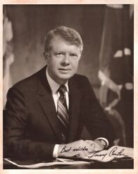 Signed 8 X 10 Black And White Photograph Of Jimmy Carter / 1960 Americana