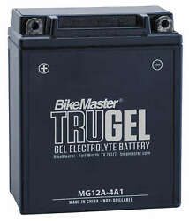 Trugel Gel Cell Battery Bikemaster Hb12a-a-gel Replaces Yb12a-a 12n12a-4a1-1