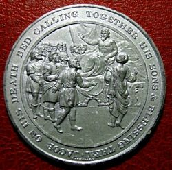 Judeo Christian Jacob On His Death Calling His Sons And Blessing Medal By Thomason