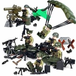 Ww2 Pacific War Mmilitary Usa Army Soldiers Weapons Building Blocks Toys Kidsne