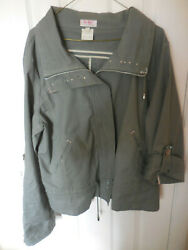 Designer Womans Jacket XL Green By Sue Who? Label from Florida Upbeat Store