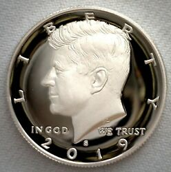 2019 S Proof Silver Kennedy Half Dollar Coin 50 Cent Jfk From Us Mint Proof Set