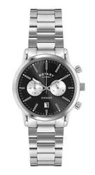 Gents Rotary Avenger Stainless Steel Watch Gb02730/04 Rrp Andpound199.00 Now Andpound99.95