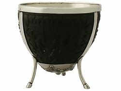 Antique Continental Silver Mounted Coconut Cup - Circa 1890 Height 9.6cm