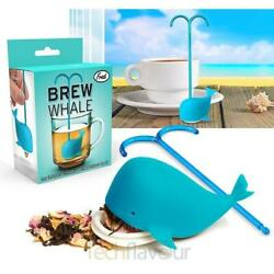 New Fred Blue Whale Tea Leaf Infuser Silicone Eco Strainer Herbal Spice S95 $11.99