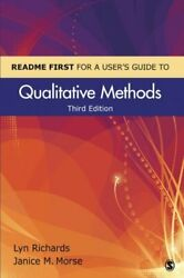 Readme First For A Userand039s Guide To Qualitative Methods By Richards Lyn New