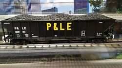 20-97822 Pittsburgh And Lake Erie Pandle 4 Bay Hopper Car W/coal Load Mth 80980