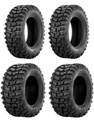 New Complete Set Of Sedona Buzz Saw R/t Tires - 2002-2008 Yamaha 660 Grizzly