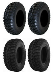 New Complete Set Of Gbc Mongrel Tires - 2007-2011 Yamaha 350 Grizzly 2x4