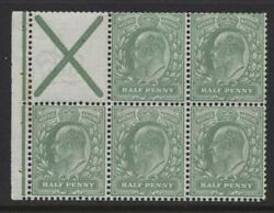1911 Andfrac12d Dull Green Kevii Harrison Perf 14 And039st.andrews Crossand039 Pane. Sg 270a