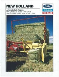 Farm Tractor Brochure - Ford New Holland Versatile Buyer's Guide C1990 F7045