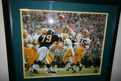 Bart Starr Autographed Signed Color Framed And Matted 16x20 Photo Uda Coa 2x Sbmvp