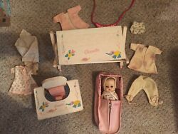Vintage 50s Vogue 8 Ginnette Doll Clothes Feeding Chair Dressing Table Sleepett