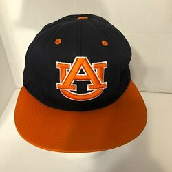 Auburn Tigers Navy Blue Orange Spell Out Snapback Adjustable Hat Preowned