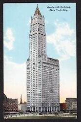 Woolworth Building, New York City Postcard, Advertising, Early 1900s