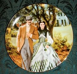 Bradford Exchange Gone With The Wind - Home To Tara Numbered Plate 1989
