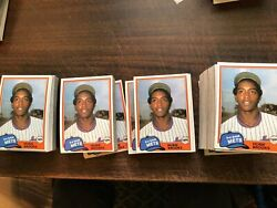 1981 Topps Traded Hubie Brooks Rookie Lot Of 1100 Rare 2200 Book Value
