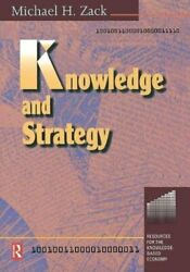 Knowledge And Strategy By Zack H. New 9780750670883 Fast Free Shipping