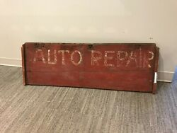 Auto Repair Sign, Vintage Industrial Mechanic Signage Board