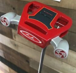 New 34 Mens Golf Red Twin Engine Putters Right Handed Steel Black Putter Grip