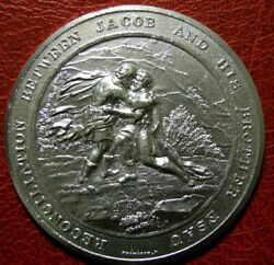 Judeo Christian Reconciliation Between Jacob And His Brother Esau Medal Thomason