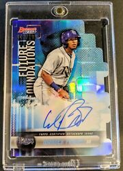 Wander Franco 2019 Bowmanand039s Best Future Foundations Auto /100 Tampa Bay Rays