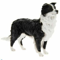 Border Collie Sheepdog Standing Dog Ornament Figurine Gift Boxed