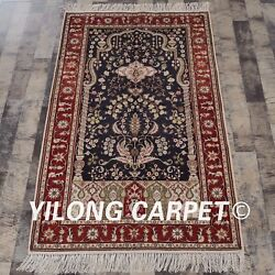 Yilong 3and039x5and039 Tree Of Life Handmade Carpets Home Hand Knotted Silk Rug Store 322b