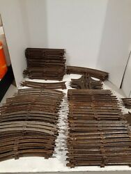 Vintage All Metal Lionel Train Tracks Lot Of 129 Pieces