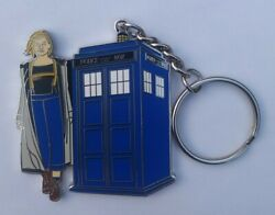 Dr Who 13th Doctor And Tardis Keychain Keyring Uk Exclusive Jodie Whittaker Bbc Tv