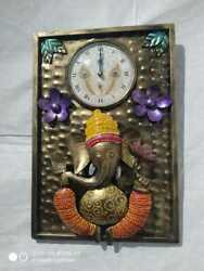 Stylish Ganesha With Clock Wall Decoration For Hall And Room