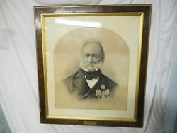 Original Charcoal Drawing Of Lt.col. Walter Oand039hara 1787-1874 By A.ellis 1877