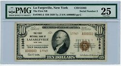 Fr 1801-2 10 1929 The First Nb La Fargeville New York Vf25 Pmg 931689-2