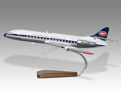 Sud Aviation Caravelle Jat Solid Mahogany Wood Handcrafted Display Model