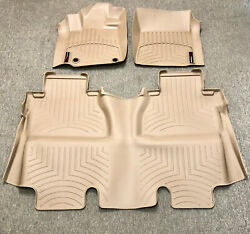 New For 14-18 Toyota Tundra Crewmax Floor Liner Rubber Mats Pads Kit Weathertech